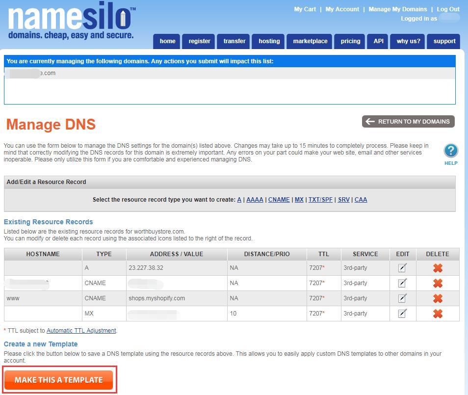 如何设置Shopify域名?教你一键解析Shopify域名|Shopify域名购买解析指南 18