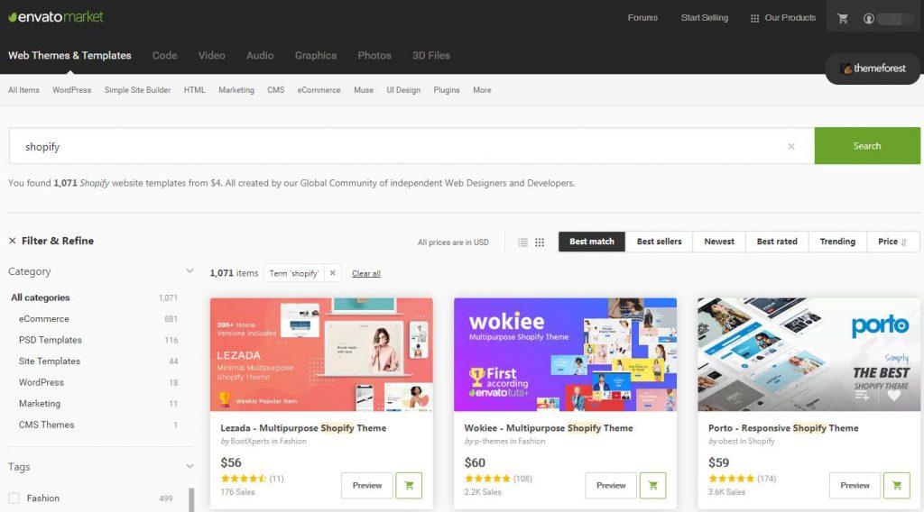 如何在Shopify安装Themeforest购买的主题 | Themeforest Shopify主题购买 13