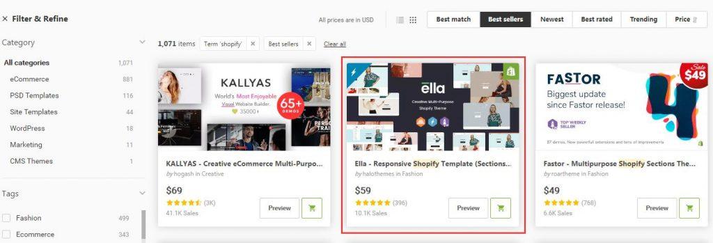 如何在Shopify安装Themeforest购买的主题 | Themeforest Shopify主题购买 14