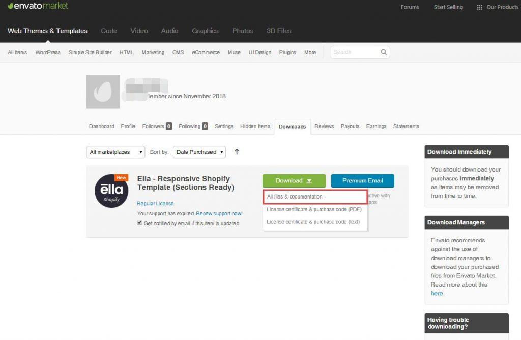 如何在Shopify安装Themeforest购买的主题 | Themeforest Shopify主题购买 16